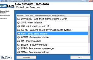 BimCOM - professional BMW and Mini diagnostic software