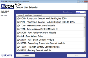FoCOM - supported Ford Focus control units