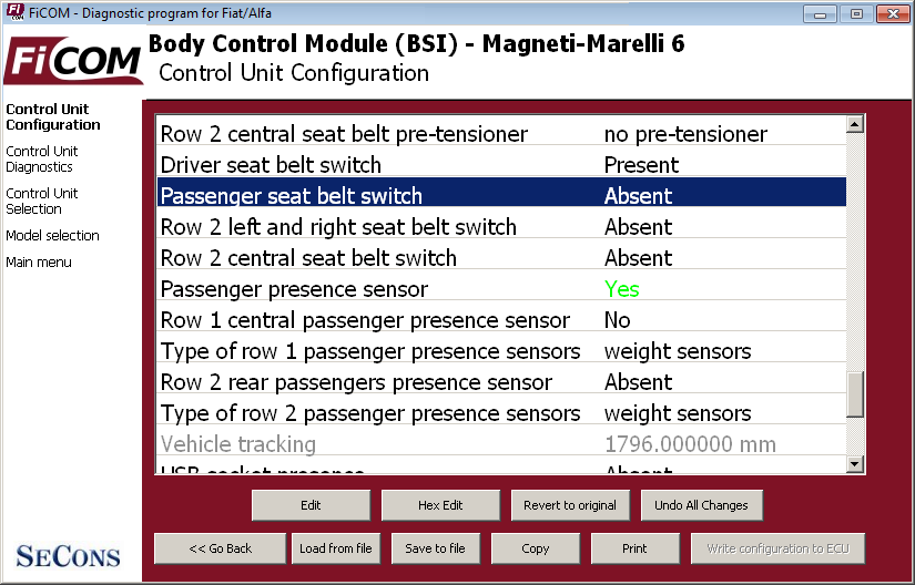 ficom13: OBD-II diagnostic program screenshot