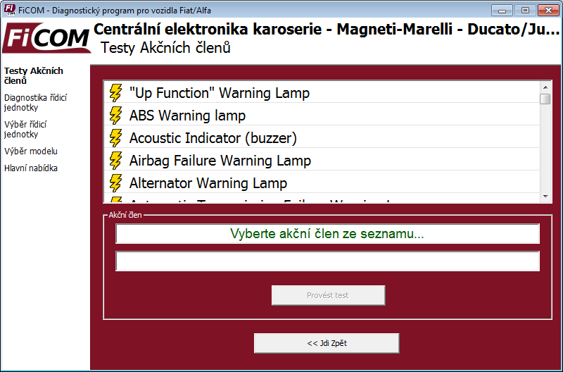 ficomcz11: OBD-II diagnostic program screenshot