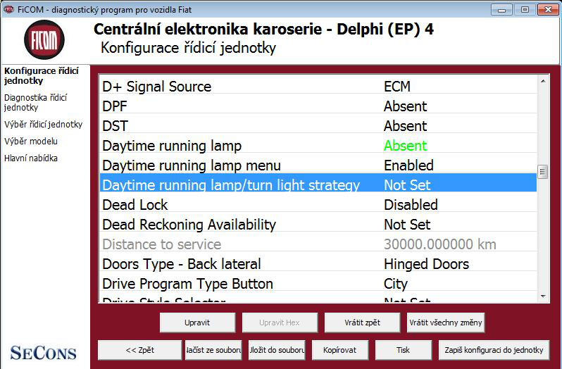 ficomcz13: OBD-II diagnostic program screenshot