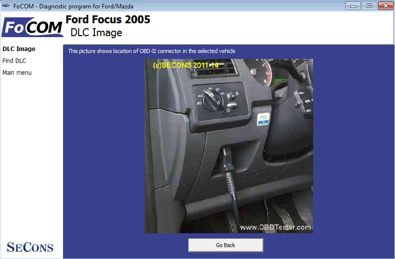 focom13: OBD-II diagnostic program screenshot