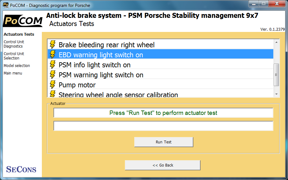 pocom11: OBD-II diagnostic program screenshot