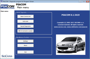 Professional Peugeot Citroen Diagnostic Software For Pc