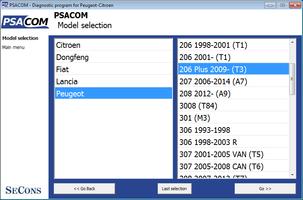 PSA-COM - supported Citroen control units