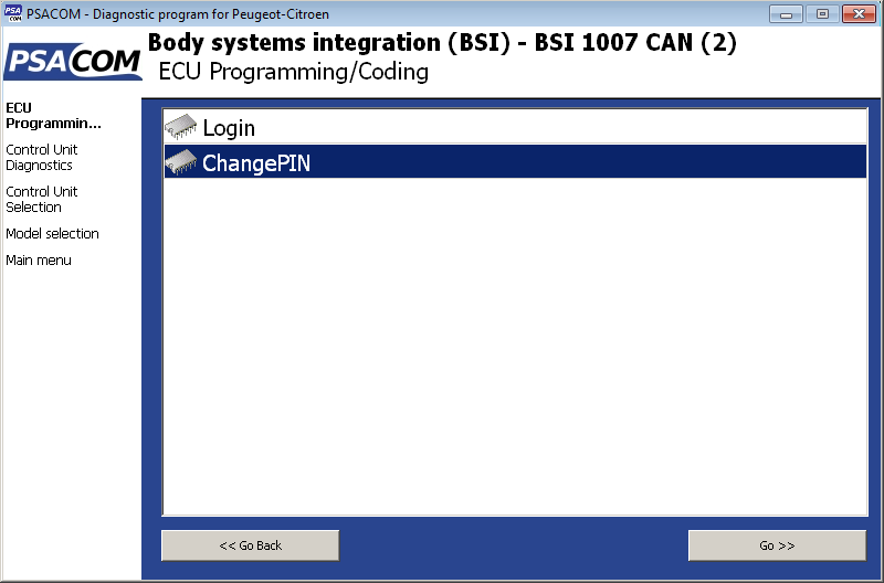 psacom13: OBD-II diagnostic program screenshot